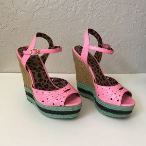 Jessica Simpson Pink Wedges size 9